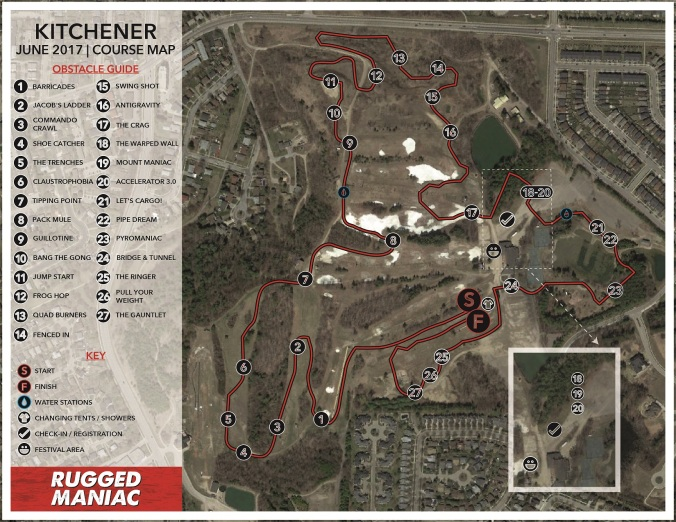 Kitchener Course Map 2017